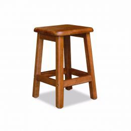 Ramon Solid Wood Square Stool