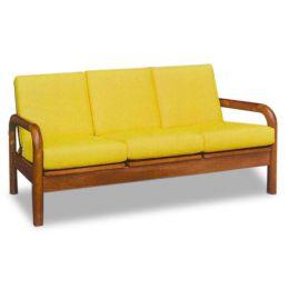 Mizuki Classic Solid Wood 3 Seater Sofa II