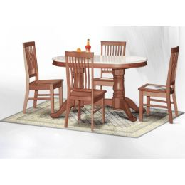 Lois Natural Marble Dining Set 002