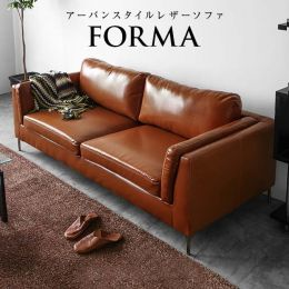 Forma Leather 3 Seater Sofa