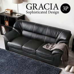 Gracia 3 Seater Leather Sofa