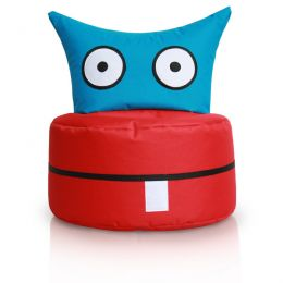 Happy Owl, Blue Red Bean Bag