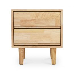 Hedia Solid Wood Side Table