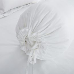 Hotelier Prestigio™ Pure White Bolster Case