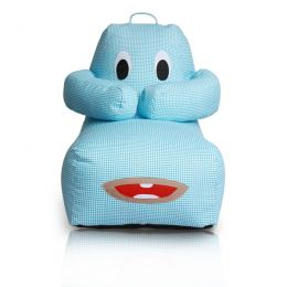 Hugbear Bean Bag Chequered [Blue]