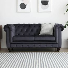 Hugo Chesterfield 2 Seater Sofa - Velvet (Stain Resistant)