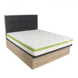Keitel Queen Size Storage Bed Frame + Solano Mattress Bundle