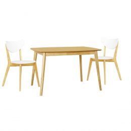 Kendal Oak 1.2m Dining Table + 2 Dining Chair (1+2)