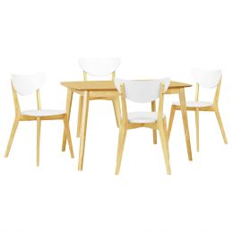 Kendal Oak 1.2m Dining Table + 4 Dining Chair (1+4)