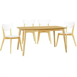 Kendal Oak 1.5m Dining Table + 4 Dining Chair (1+4)