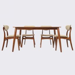 Lina Solid Wood Dining Table Set  (1+4)
