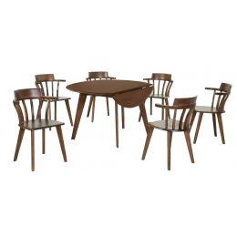 Lisandra Full Solid Wood Dining Set (5 Piece)