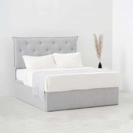 LITTKE Storage Bed Frame (Stain-Resistant Fabric)