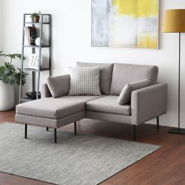 Luna 2 Seater Sofa with Ottoman - Water Repellent Fabric