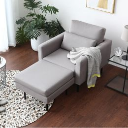 Luna Armchair with optional Ottoman - Water Repellent Fabric