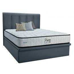 Maxcoil Pierre Mattress + Fabric Storage Bed Frame Bundle