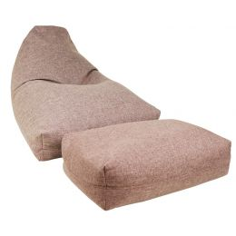 Moby Bean Bag with Ottoman [Coffee Brown]