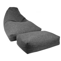 Moby Bean Bag with Ottoman [Grey]