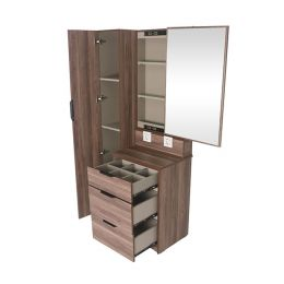 Bestille Storage Dressing Table with Sliding Mirror