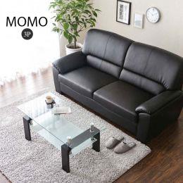 Momo Leather Sofa 3 Seater