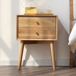 Nara American Oak Wood Side Table II