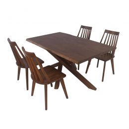 Odette Solid Wood Dining Set
