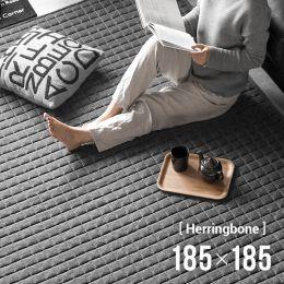 Herringbone Quilting Rug 185x185cm (Japanese)