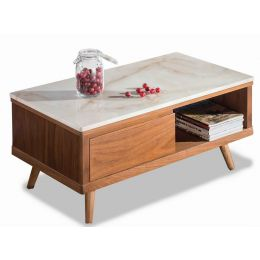 Rosli Cultured Marble Coffee Table