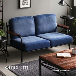 Sanctum Denim Fabric Sofa (2 Seater)