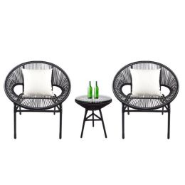 Shelton Patio Set, White Pillow