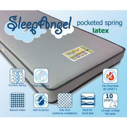 SleepAngel Pocketed Spring with Latex Mattress