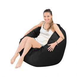 Soopadoopa Round PVC Leather Bean Bag (2 Colors)