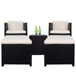 Splendor Armchair Set, Creamy White Cushions