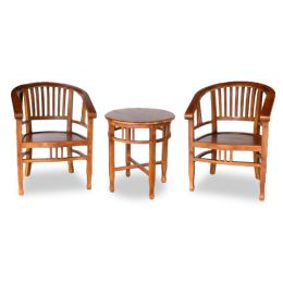Miho Teak Wood Tea Table Set