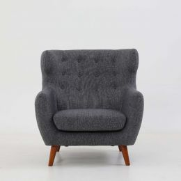 Strato Wingback Armchair (Stone Grey)