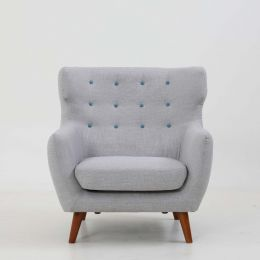 Strato Wingback Armchair (Moon Grey)