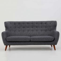 Strato Wingback 3 Seater Sofa (Stone Grey)