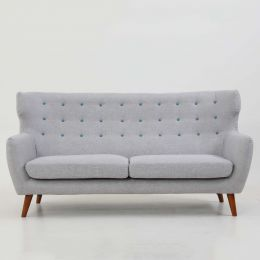 Strato Wingback 3 Seater Sofa (Moon Grey)