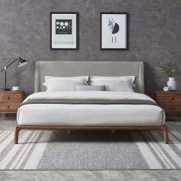 Tyme Ash Wood Bed Frame (Ash Grey)