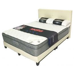 "Vazzo 10"" Sleep King Euro Top Mattress with Bedframe Bundle"