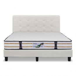 Vazzo Package: MR2 Tri Zone 10'' Individual Pocketed Spring Mattress+Bedframe
