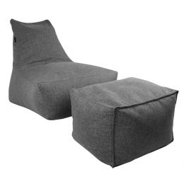 Vetro Bean Bag with Ottoman [Grey]