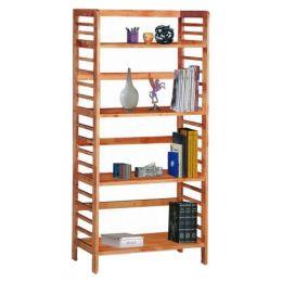 Wells Solid Wood 4-Tier Open Shelf