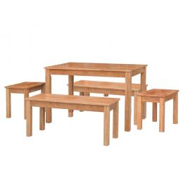 West Brooks Wooden Dining Set