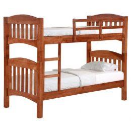 Woods Double Decker Wooden Bed Frame III (Single)
