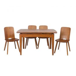Woodways Solid Wood Extendable Table Dining Set