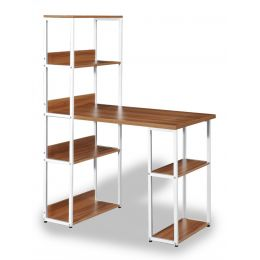 Zola Study Table with Storage Shelves