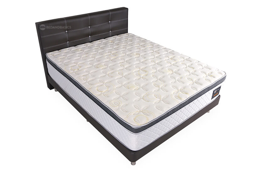 High-Density Support Layer and Orthopedic Spring System. This combination brings you luxurious comfort that makes you want to stay in bed all day.