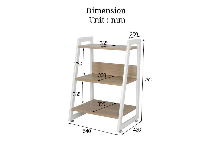 The dimensions of the Marja Display Bookshelf II. Buy online the finest collection of living room furniture in SG.