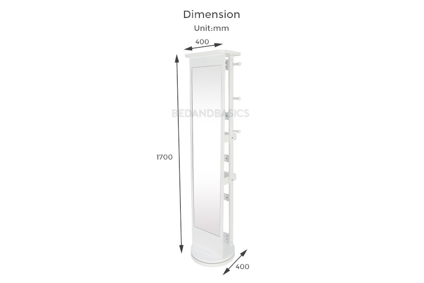 dimensions of the kelli standing mirror. Bedandbasics.sg is the best furniture online shop in Singapore SG.